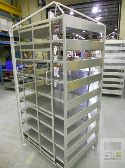 Cheese factory shelving