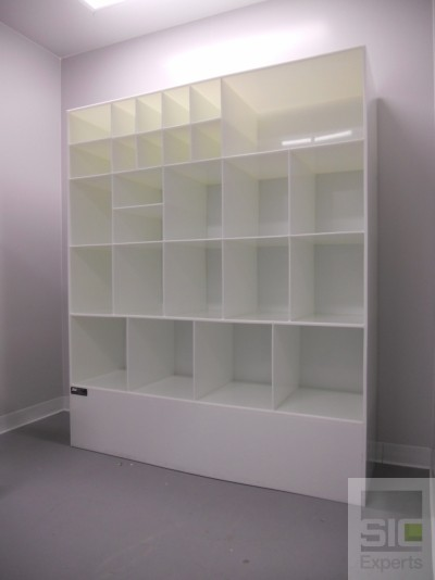Plastic storage shelving