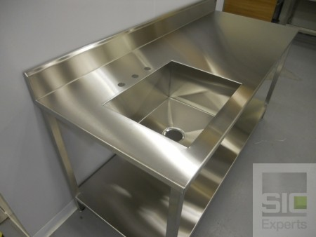 Laboratory sink stainless steel