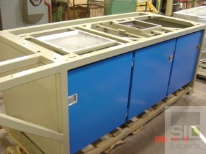 Weighing and mixing booth