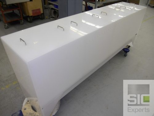 Surface treatment plastic tank