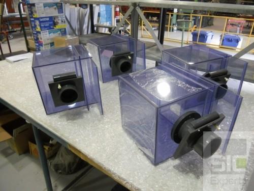 Custom plastic boxes