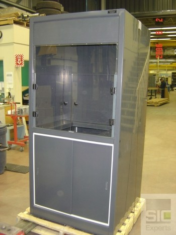 Plastic lab cabinet