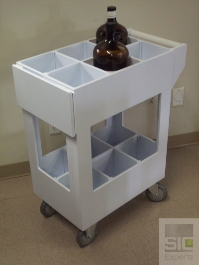 Polypropylene chemical cart