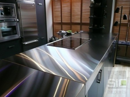 Kitchen counter stainless steel