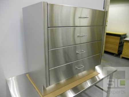 Stainless steel drawers cabinet