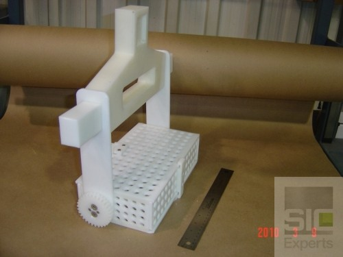 Polyethylene dipping basket