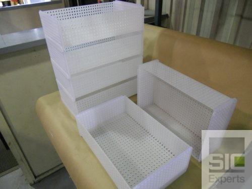 Stackable plastic basket