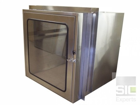 Stainless steel cart pass through