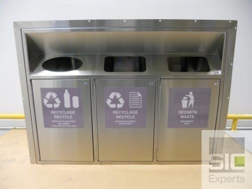 Recycling bin stainless steel
