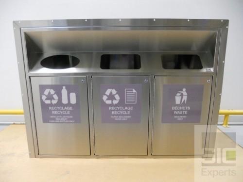 Recycling bin stainless steel
