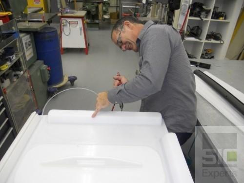 Hot air plastic welding