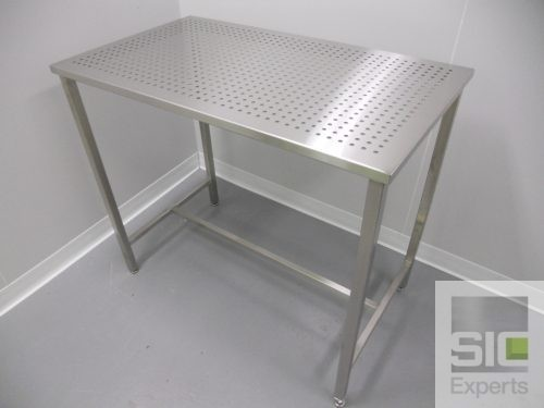 Stainless steel perforated table