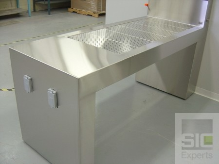 Downdraft dissection table
