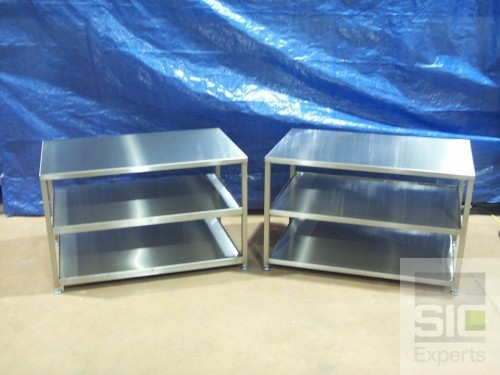 Stainless steel food preparation table