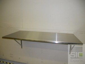 Stainless steel wall mounted folding table