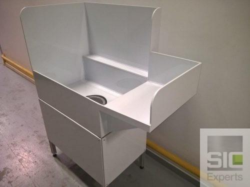 White PVC plastic industrial sink SIC33768
