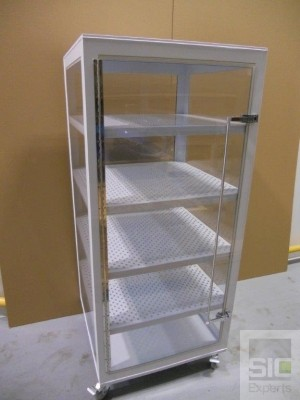 Polypropylene ventilated cabinet