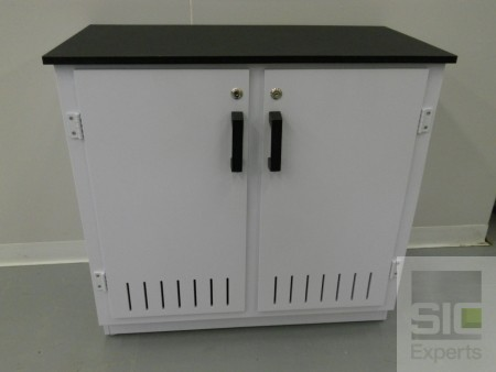 Vented acid storage cabinet