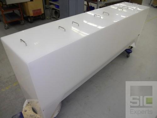 Surface treatment plastic tank