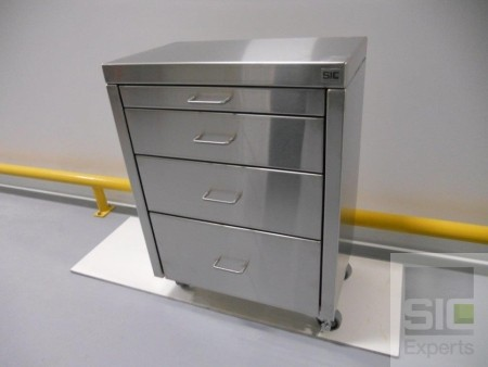 Stainless steel medical storage cart