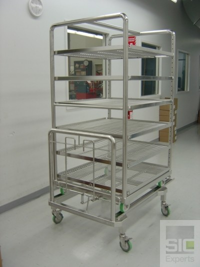 Stainless steel autoclave cart SIC13722
