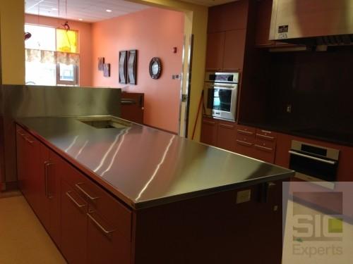 Custom stainless steel countertop