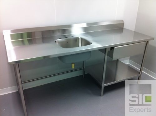 Laboratory counter table stainless steel SIC28240