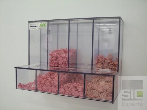 Acrylic finger stall dispenser