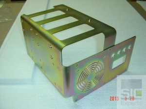 Electronic components frame