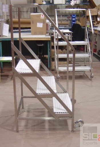 Stainless steel step ladder SIC22689
