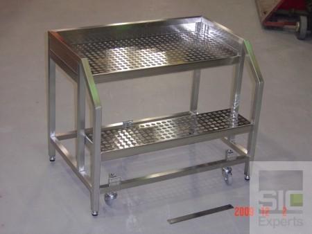 Cleanroom mobile step ladder SIC25313