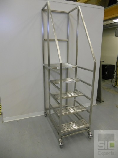Platform step ladder with wheels SIC31031
