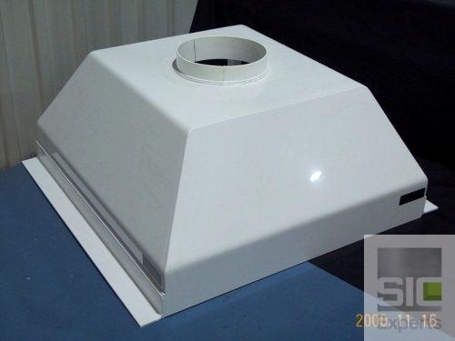 White PVC hood