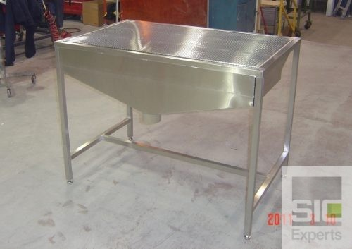 Downdraft table stainless steel SIC26952