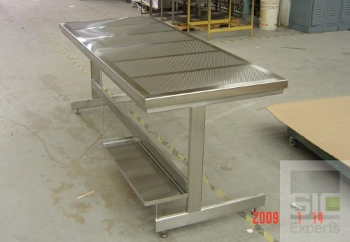 Laboratory perforated table top