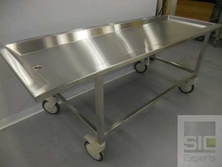 Mortuary table stainless steel SIC30962
