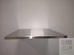 Folding stainless steel wall table