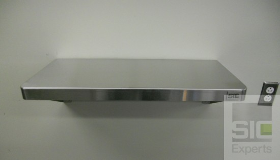 Wall mounted stainless steel shelf SIC30053B